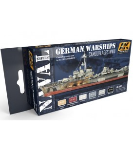 AK559 Colors for German Warships Acrylic Set 6 u. 17 ml.
