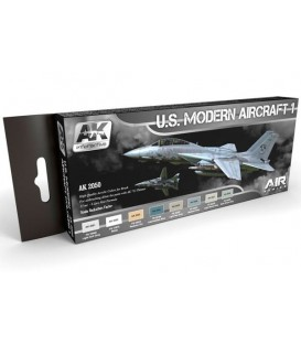 AK2050 U.S. Modern Aircraft 1 Colors Set Set 8 u. 17 ml.