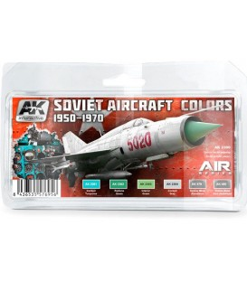 AK2300 Soviet Aircraft Colors 1950-1970 Set 6 u. 17 ml.