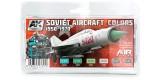 AK2300 Soviet Aircraft Colors 1950-1970 Set 6 u. 17 ml.