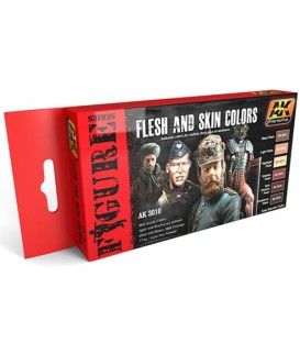 AK3010 Flesh and Skin Colors Set 6 u. 17 ml.