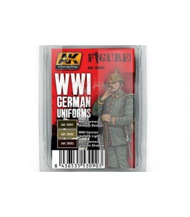 AK3090 WWI German Uniforms Set 3 u. 17 ml