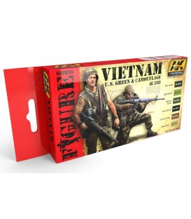 AK3200 Vietnam US Green and Camouflage Set 6 u. 17 ml