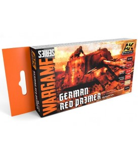 AK1124 German Red Primer Set (WARGAME SERIES) 6 u. 17 ml
