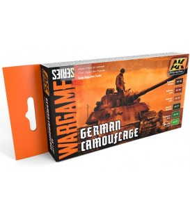 AK1167 German Camouflage Set (WARGAME SERIES) 6 u. 17 ml