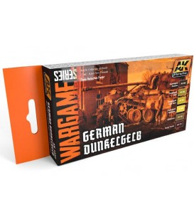 AK1552 German Dunkelgelb Set (WARGAME SERIES) 6 u. 17 ml