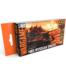 AK1553 4BO Russian Green Set (WARGAME SERIES) 6 u. 17 ml