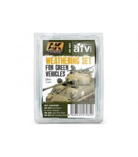 AK064 Weathering Set for Green Vehicles Set 3 u. 35 ml