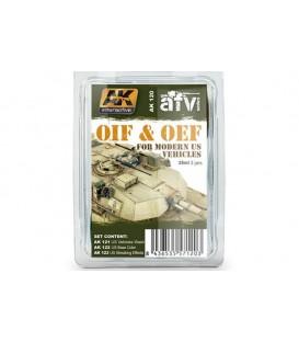 AK120 OIF and OEF US Vehicles Weathering Set 3 u. 35 ml