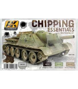 AK138 Chipping Essentials Weathering Set 4 u.
