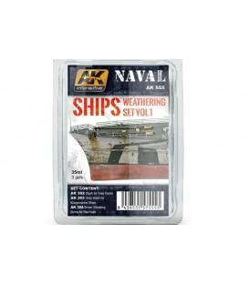 AK555 Ships Weathering Set Vol.1 3 u. 35 ml