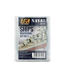 AK556 Ships Weathering Set Vol.2 3 u. 35 ml