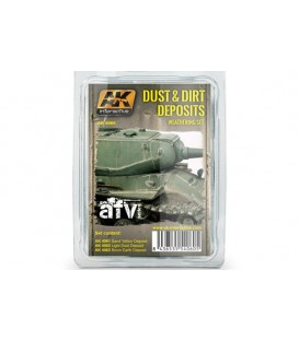 AK4060 Dust and Dirt Deposits Weathering Set 3 u. 35 ml