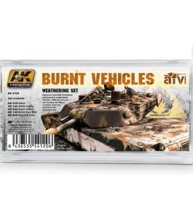 AK4120 Burnt Vehicles Weathering Set 5 u. 35 ml