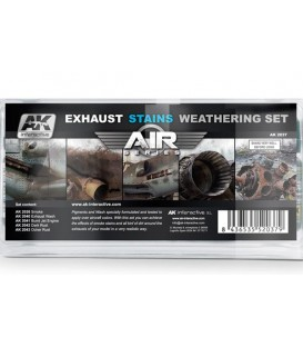 AK2037 Exhaust Stains Weathering Set - Air Series - 5 u. 35 ml
