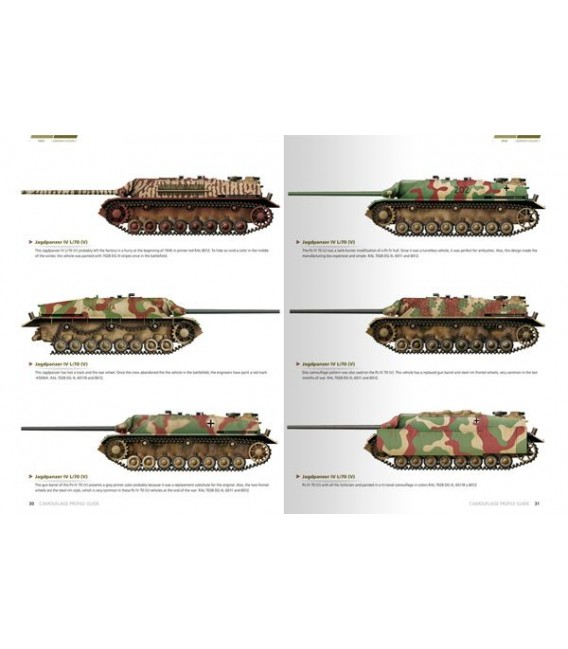 AK403 1945 German Colors Camouflage Profile Guide - English