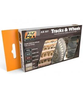 AK557 Track and Wheels Acrylic Set 6 u. 17 ml.