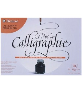 01) Calligraphy paper bloc BRAUSE 30 s 125gr A4 29,7x21cm
