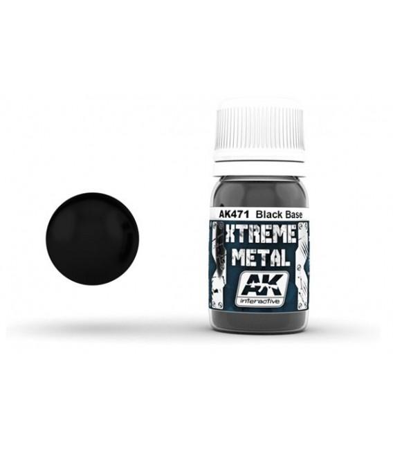 AK471 Xtreme Metal Black Base 30 ml.