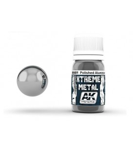 AK481 Xtreme Metal Polished Aluminium 30 ml.