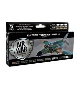 Set Vallejo Model Air 8 u. (17 ml.) USAF Colors Vietnam War SEA