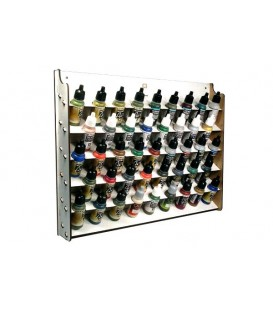 Wall Mounted 43 spaces Paint Display Vallejo