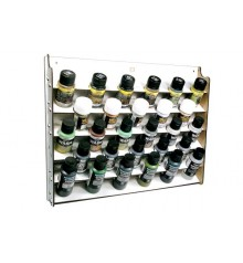 Wall Mounted 28 spaces Paint Display Vallejo