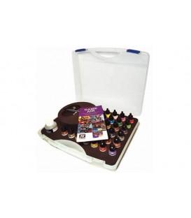 Plastic case Vallejo Basic Game Air Colors & Airbrush 28 u.17ml