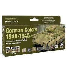 Set Vallejo Model Air 8 u. (17 ml.) German Colors 1940-1945