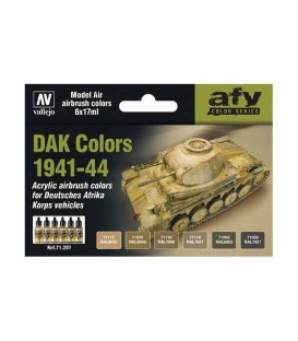 Set Vallejo Model Air 6 u. (17 ml.) DAK Colors 1941-1944