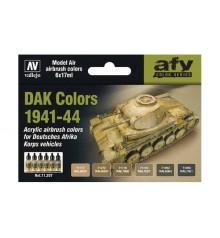 Set Vallejo Model Air 6 u. (17 ml.) DAK Colors 1941-1944