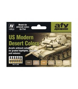 Set Vallejo Model Air 6 u. (17 ml.) US Modern Desert Colors