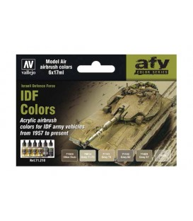 Set Vallejo Model Air 6 u. (17 ml.) IDF Colors