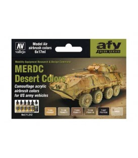 Set Vallejo Model Air 6 u. (17 ml.) MERDC Desert Colors