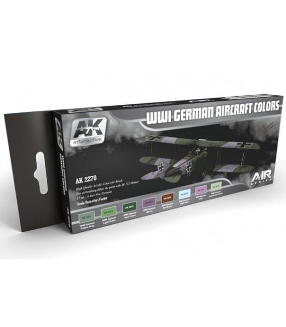 AK2270 WWI German Aircraft Colors Set 8 u. 17 ml.