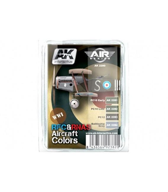 AK2280 WWI RFC-RNAS Aircraft Colors Set 4 u. 17 ml.