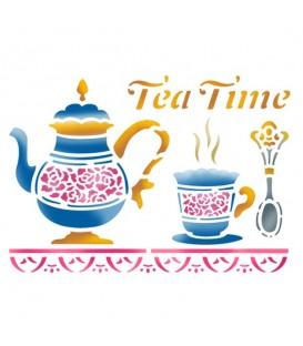 Plantillas - Stencils 15x20 Tea time KSD132