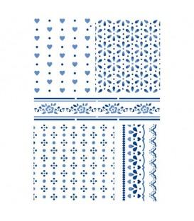 Plantillas - Stencils 21x29,7 Texture Cloths KSG400