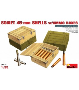 35073 Soviet 45-mm shells with ammo boxes