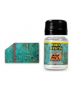 AK088 Worn effects acrylic fluid 35 ml.