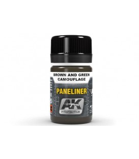AK2071 Paneliner for brown and green camouflage 35 ml.