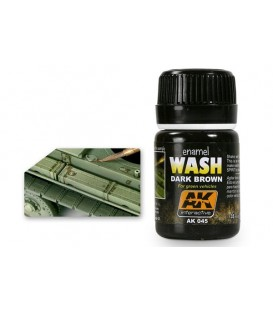 AK045 Dark Brown Wash for Green Vehicles 35 ml.