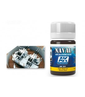 AK301 Dark Wash for wood deck 35 ml.