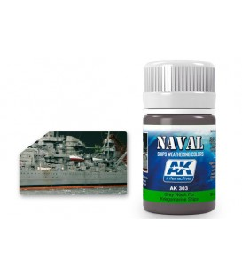 AK303 Grey wash for Kriegsmarine Ships 35 ml.
