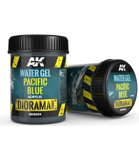 AK8004 Water gel Pacific blue 250 ml.