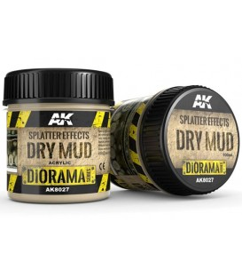 AK8027 Splatter effects dry mud 100 ml.