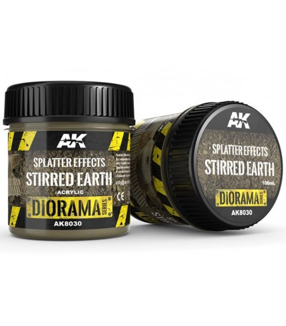 AK8030 Splatter effects stirred earth 100 ml.