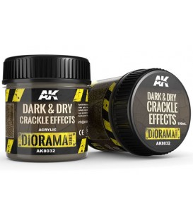 AK8032 Dark and dry crackle effects 100 ml.