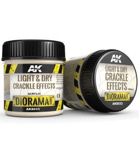 AK8033 Light and dry crackle effects 100 ml.
