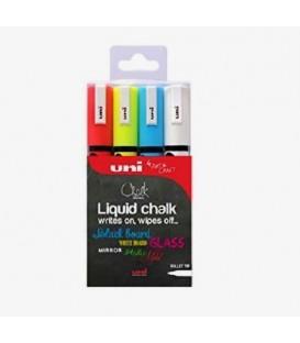 00) 4 pcs. Set Uni Chalk Marker PWE5M